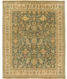 RugStudio presents Due Process Mirzapur Ferrahan Teal-Beige Hand-Knotted, Best Quality Area Rug